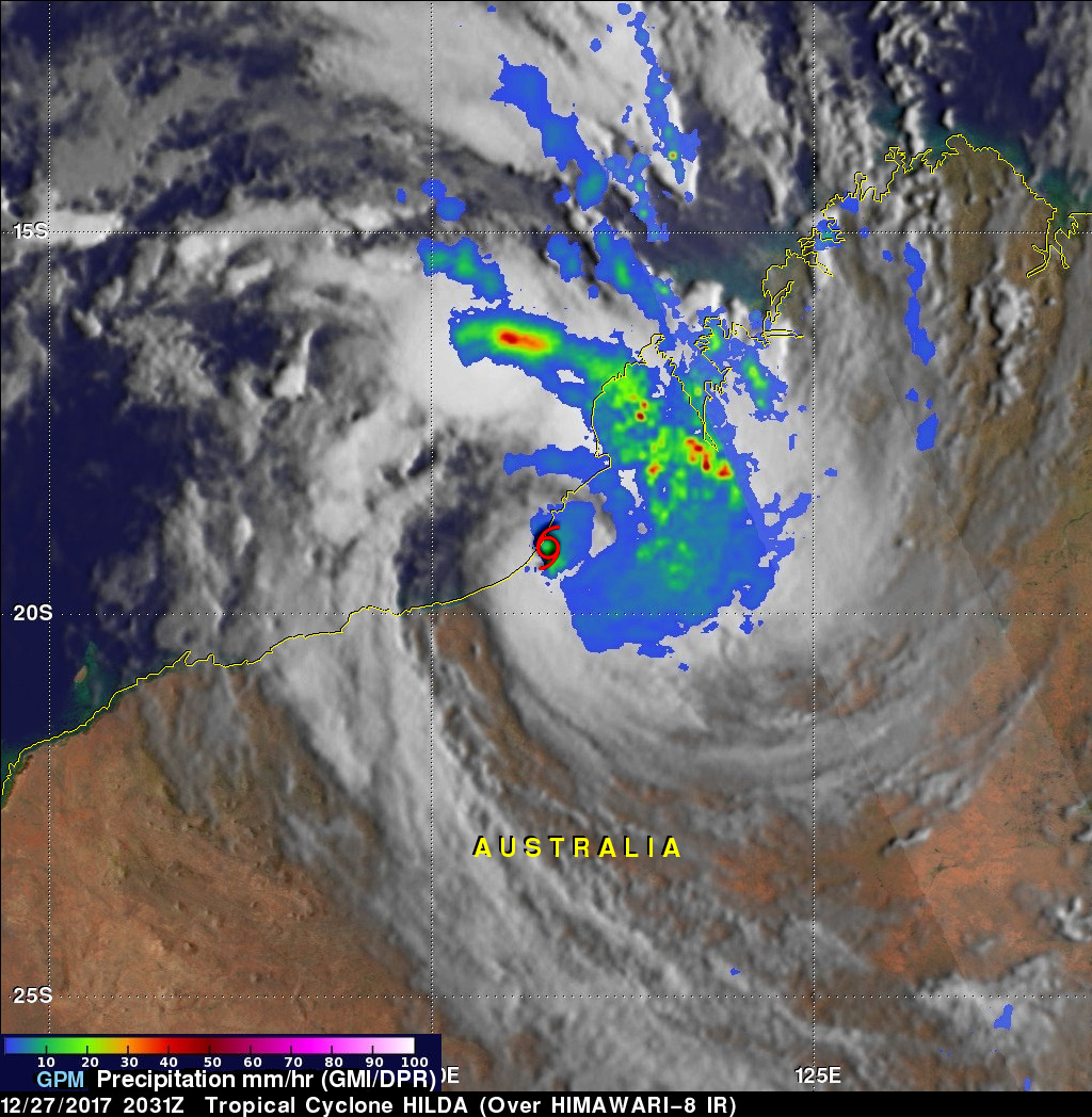 GPM Finds Heavy Rain In Short Lived Tropical Cyclone Hilda