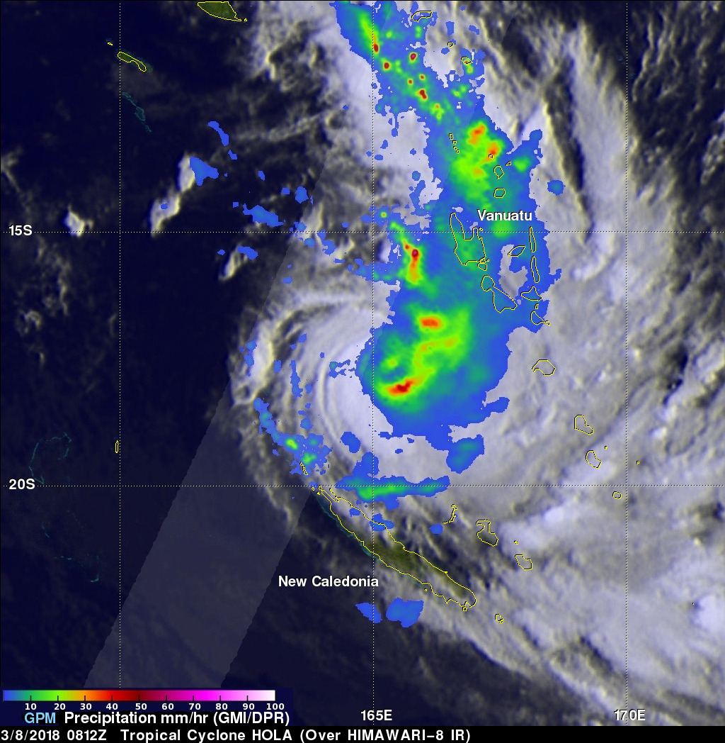 GPM Satellite Scans Powerful Tropical Cyclone Hola
