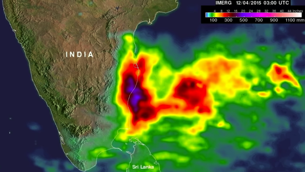 NASA's IMERG Adds Up More of Southern India's Extreme Rainfall