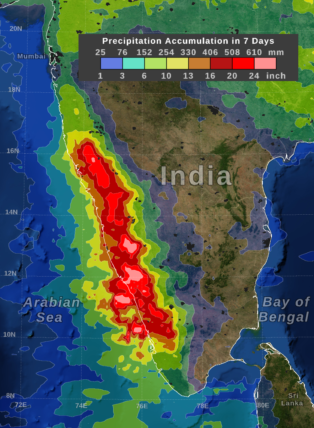IMERG Measures Flooding Rainfall in India