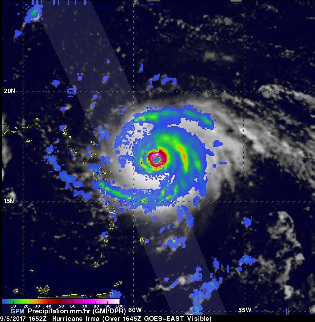 GPM Satellite Probes Dangerous Category Five Hurricane Irma