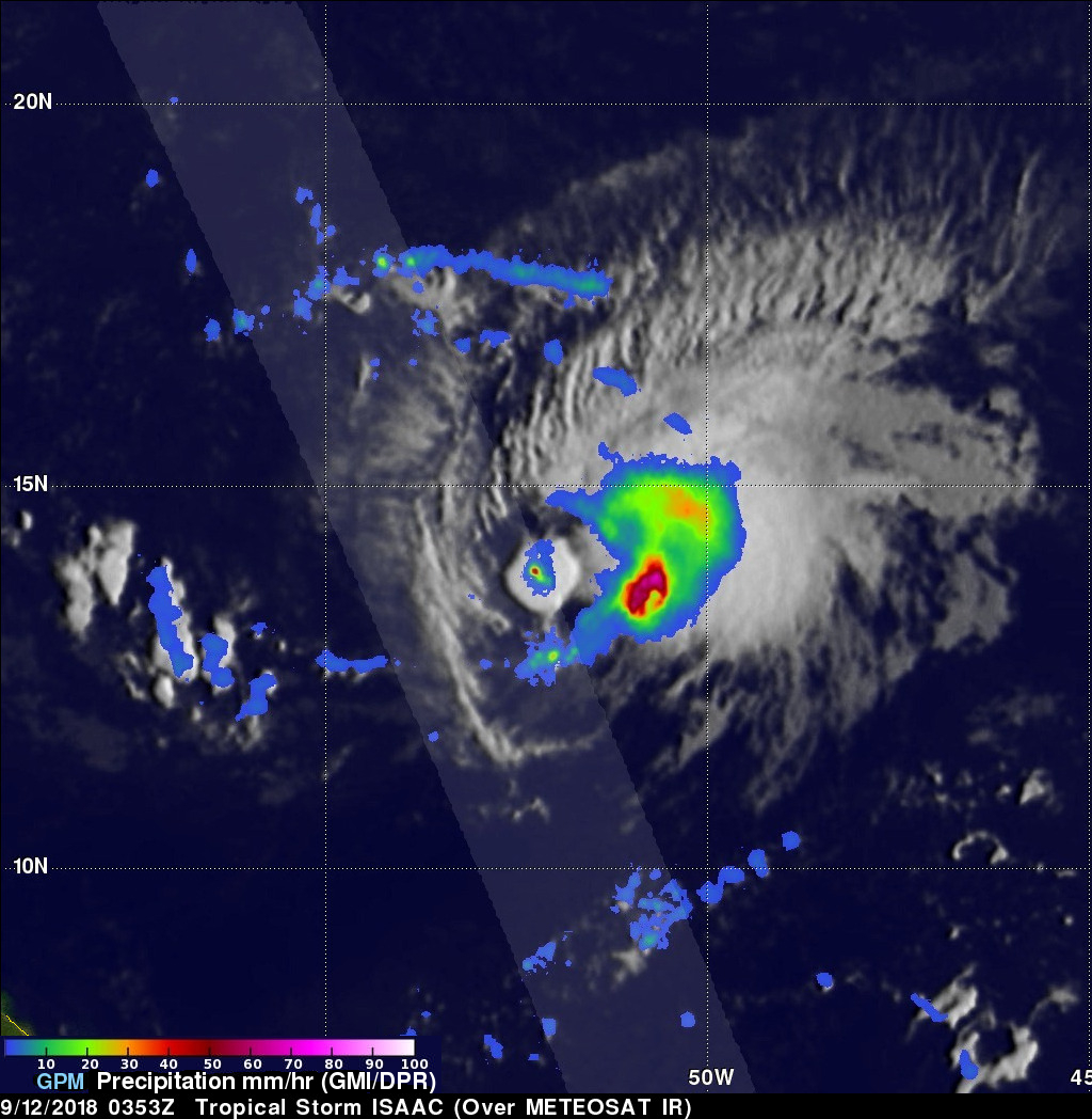 GPM Probes Tropical Storm ISAAC