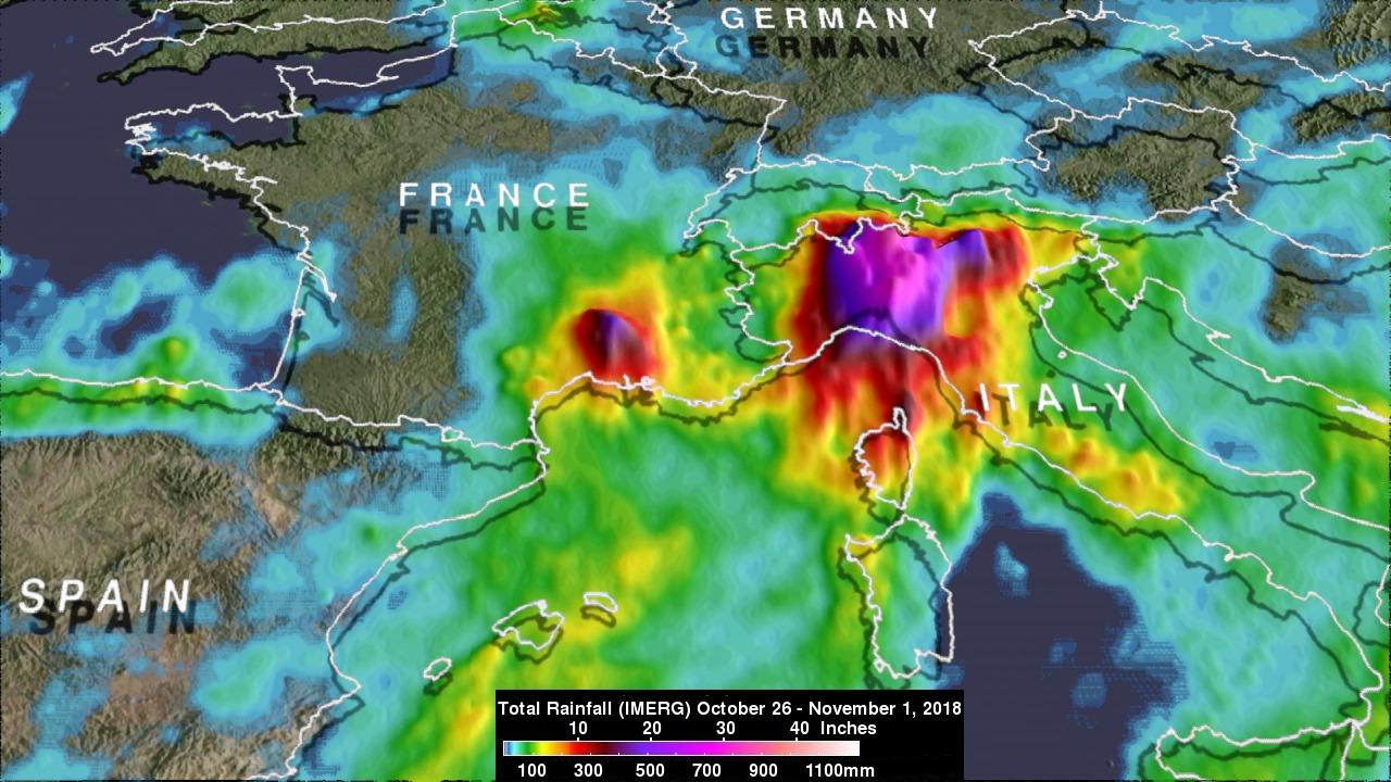 Italy's Extreme Rainfall Examined With IMERG