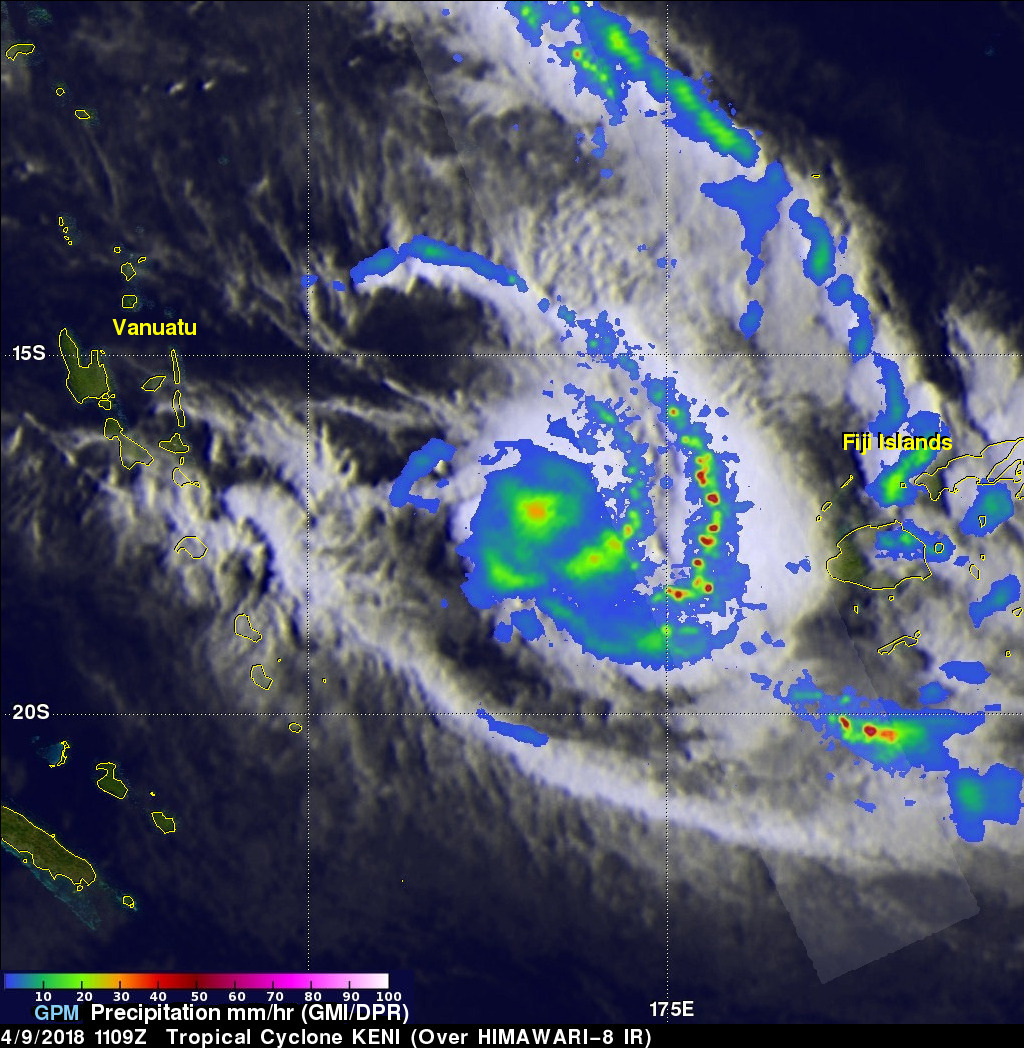 GPM Sees Keni Following Tropical Cyclone Josie's Track