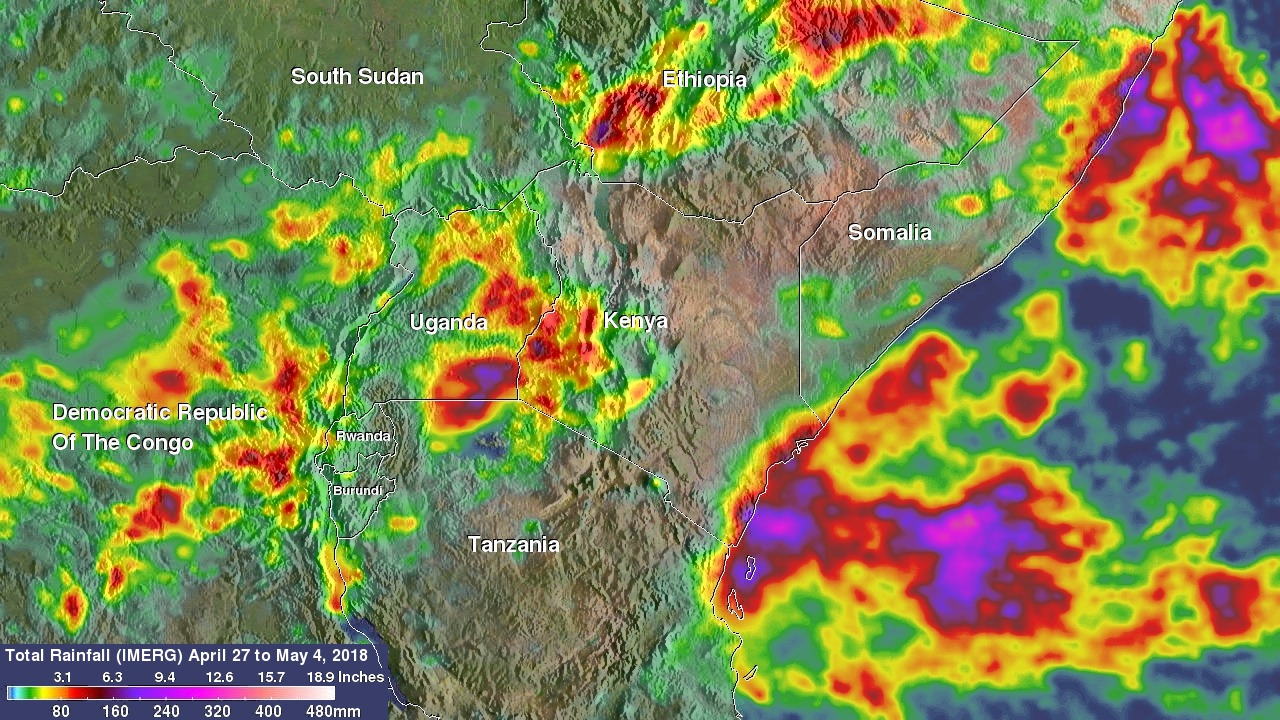 NASA's IMERG Shows Devastating Rainfall Over East Africa