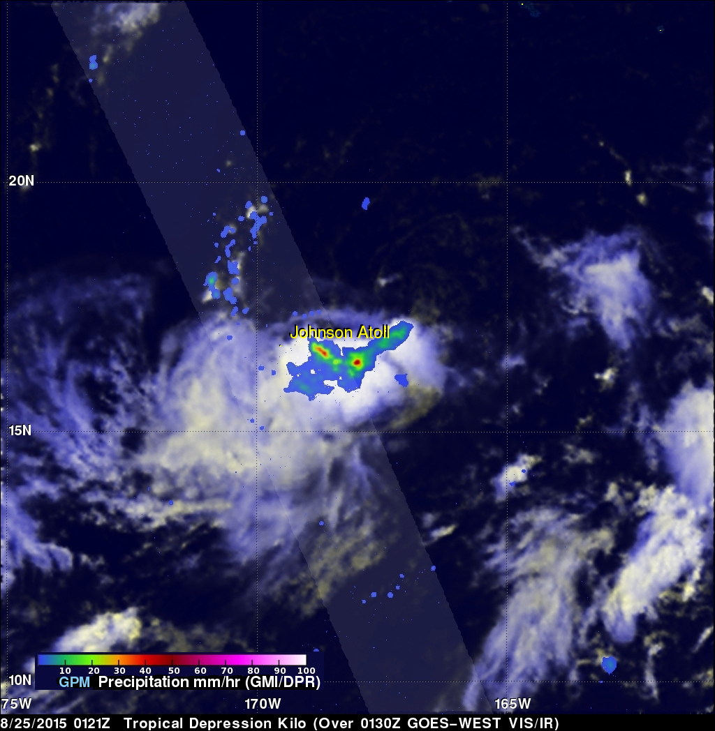 GPM Sees Energetic Tropical Depression Kilo