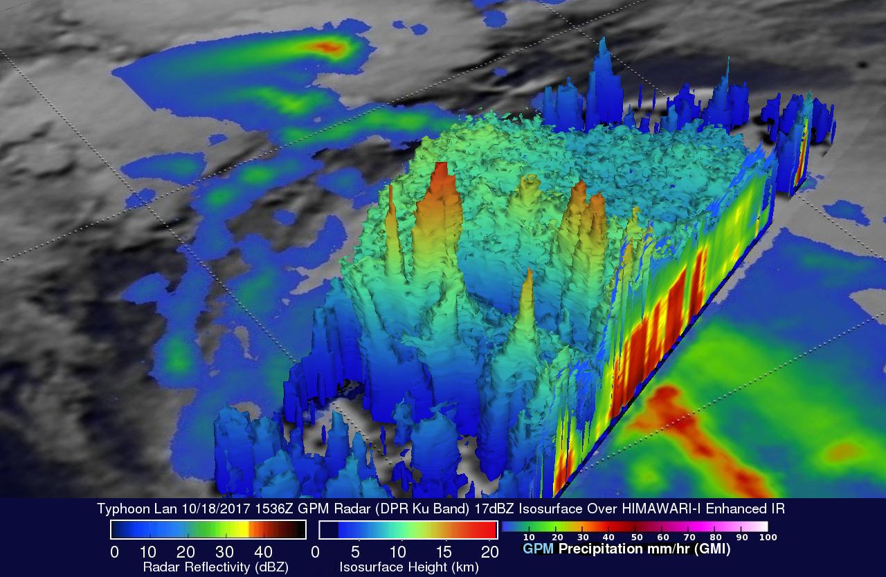 GPM Sees Intensifying Typhoon Lan Heading Toward Japan