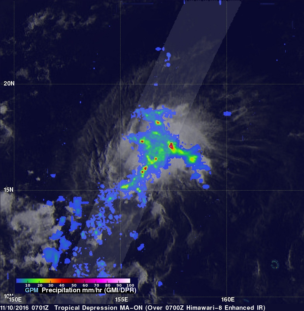 Tropical Depression MA-ON Evaluated With GPM Data