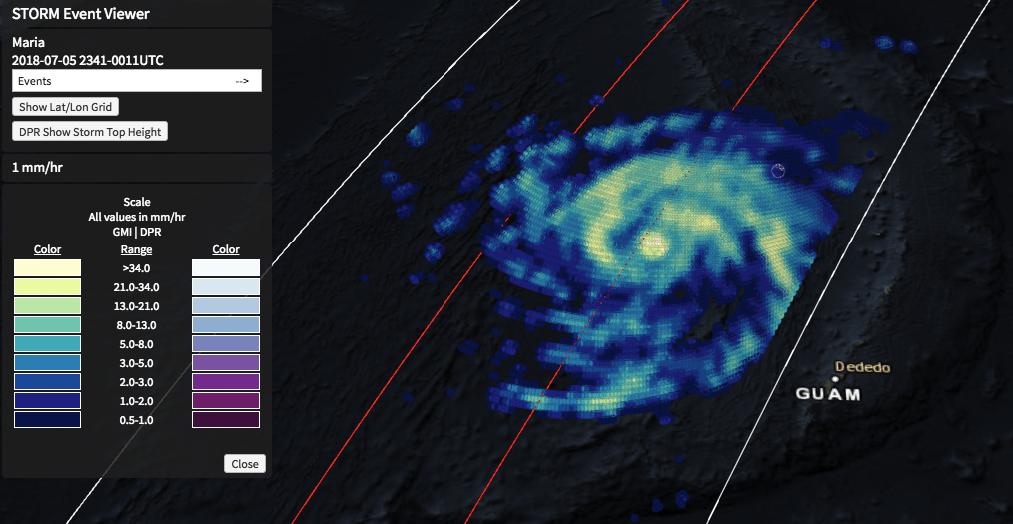 GPM Views Super Typhoon Maria Near Guam