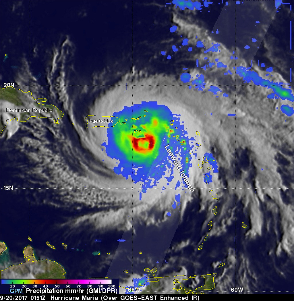 GPM Satellite Looks At Hurricane Maria's Rainfall