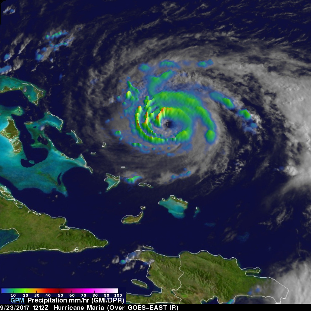 GPM Shows Hurricane Maria North Of Turks And Caicos Islands