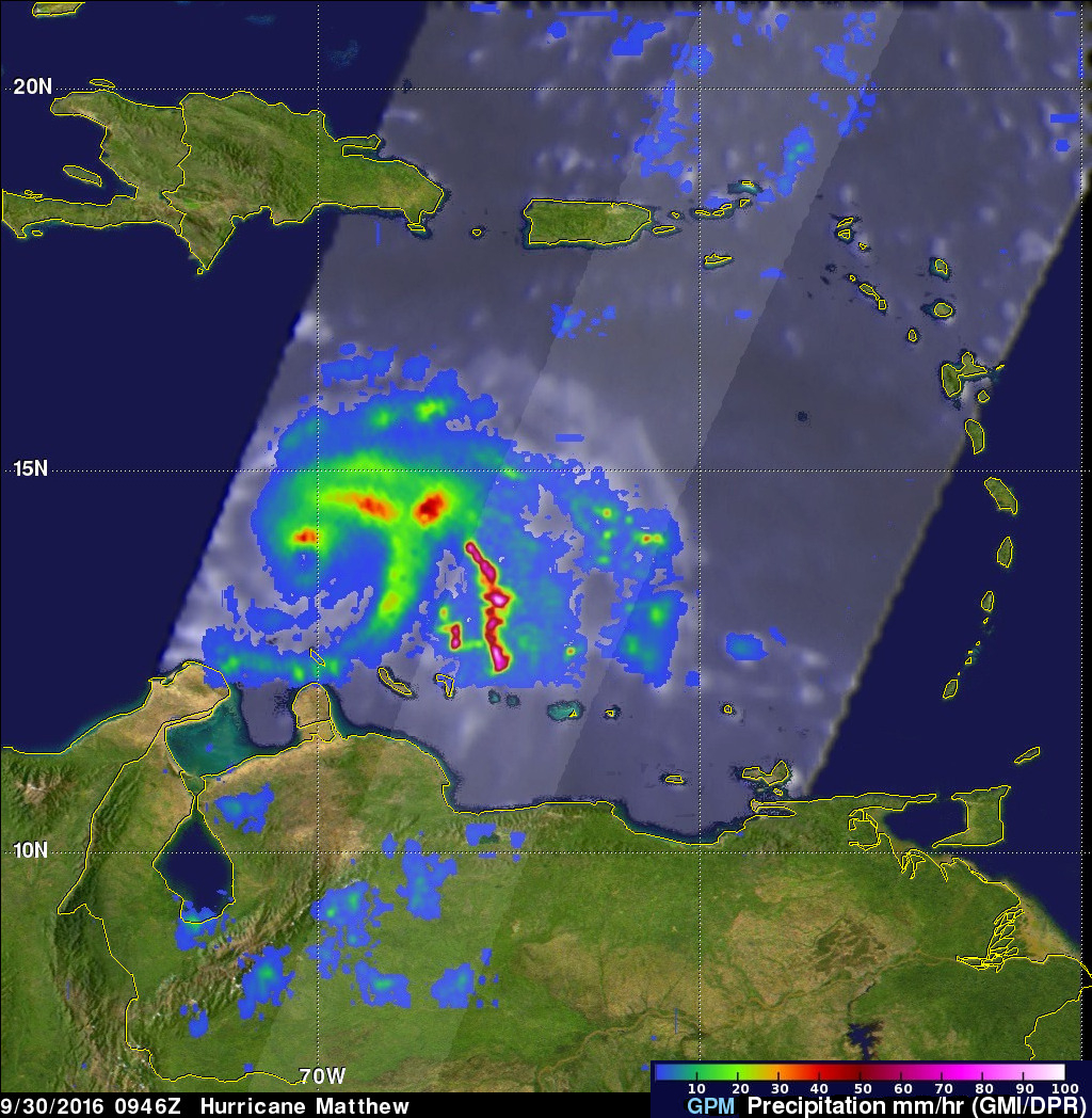 GPM Finds Intense Rainfall In Matthew Rainband