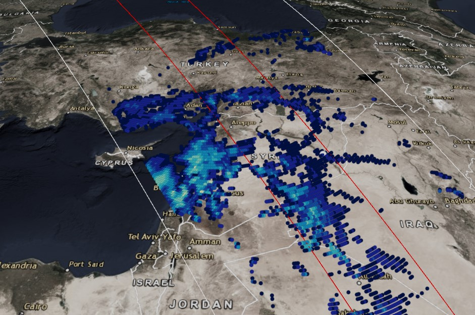 """GPM Observes """"The Dragon"""" Cyclonic Storm System in the Middle East"""