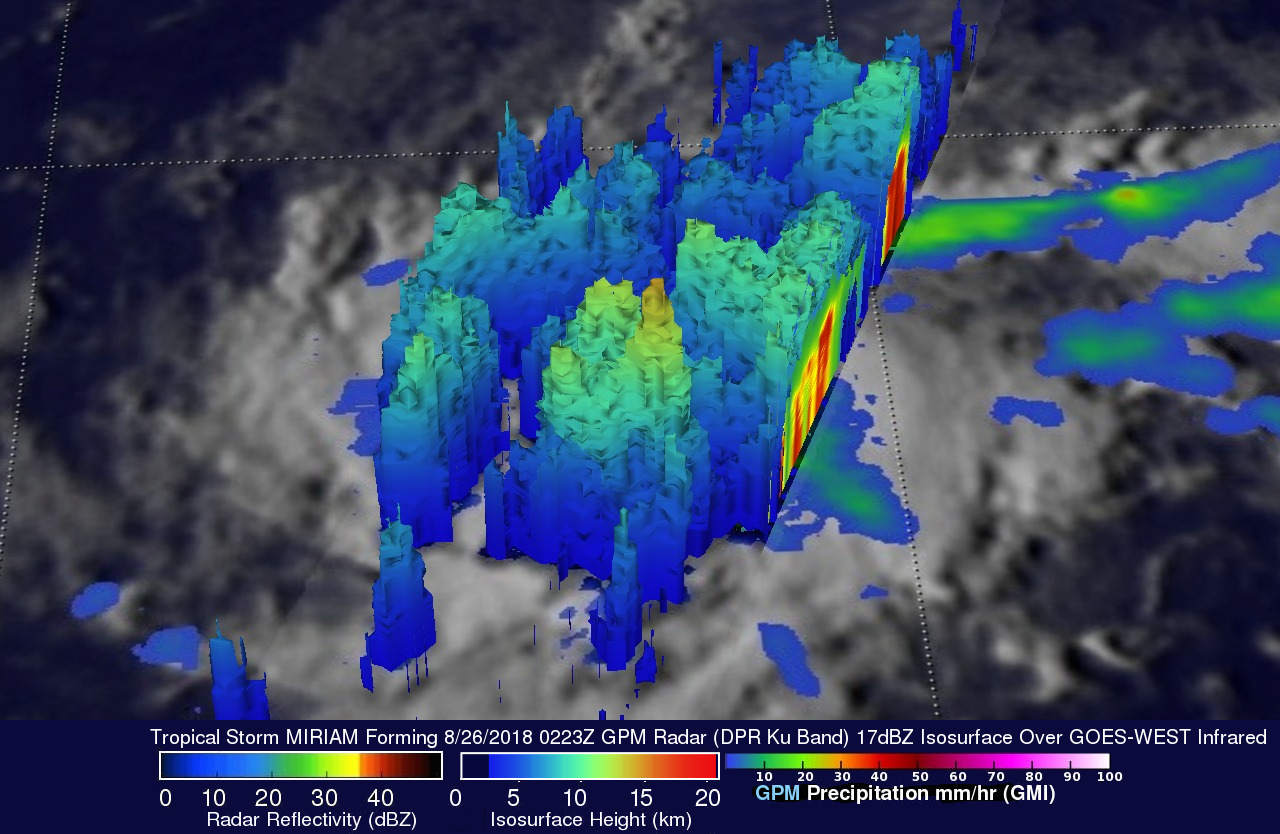 Tropical Storm Miriam's Formation Observed BY GPM