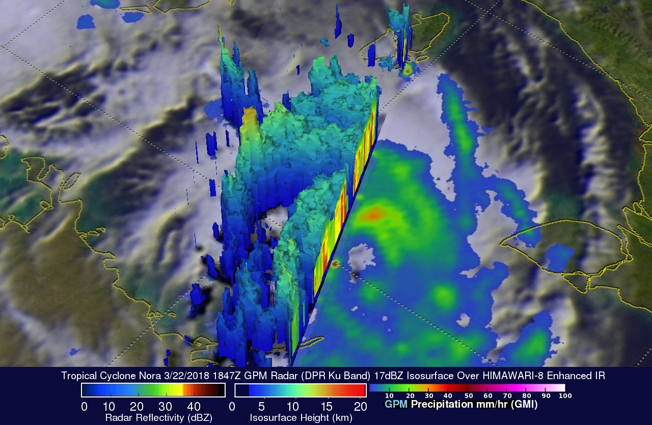 GPM Flies Over Intensifying Tropical Cyclone Nora