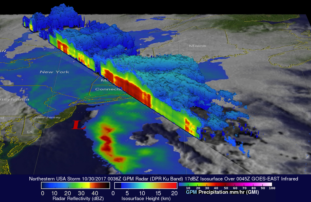 Powerful Northeastern Storm Examined By GPM Satellite