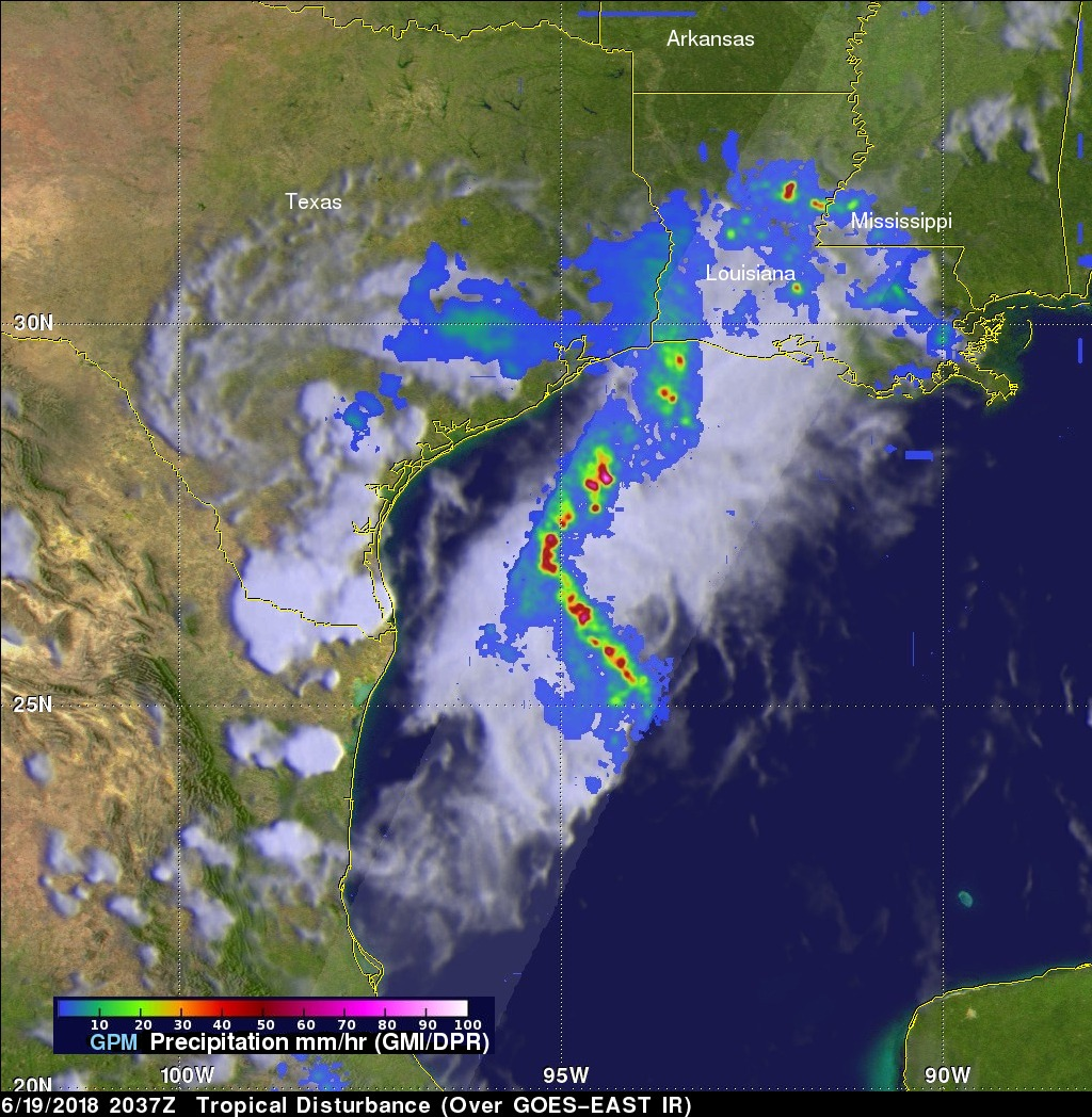 GPM Satellite Probes Storms In The Western Gulf Of Mexico
