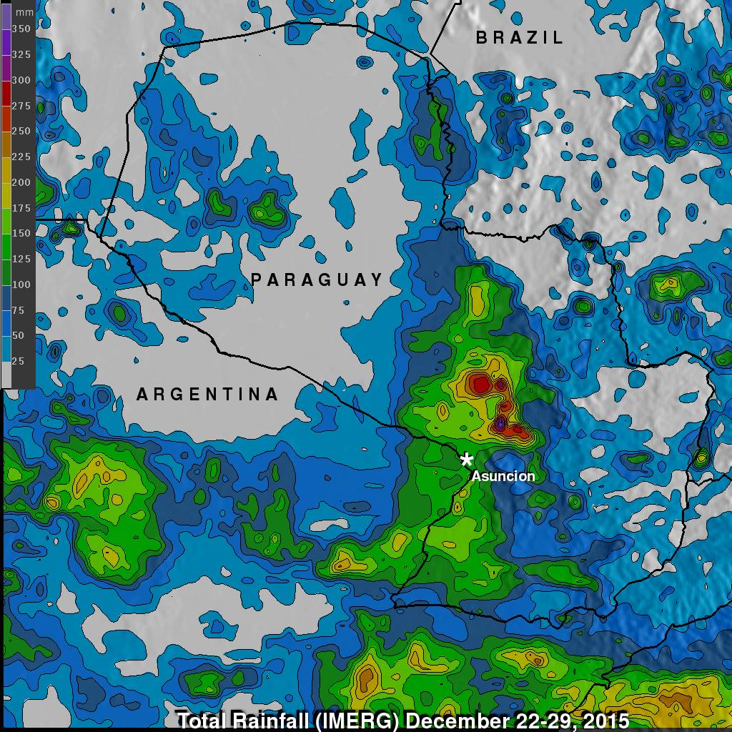 Paraguay's Deadly Flooding Rainfall Measured By IMERG