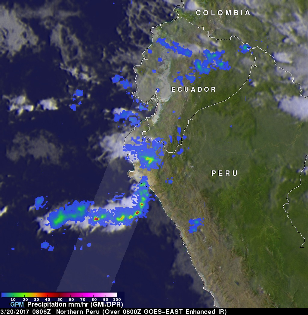 Peru's Deadly Rainfall Examined With NASA's GPM Data