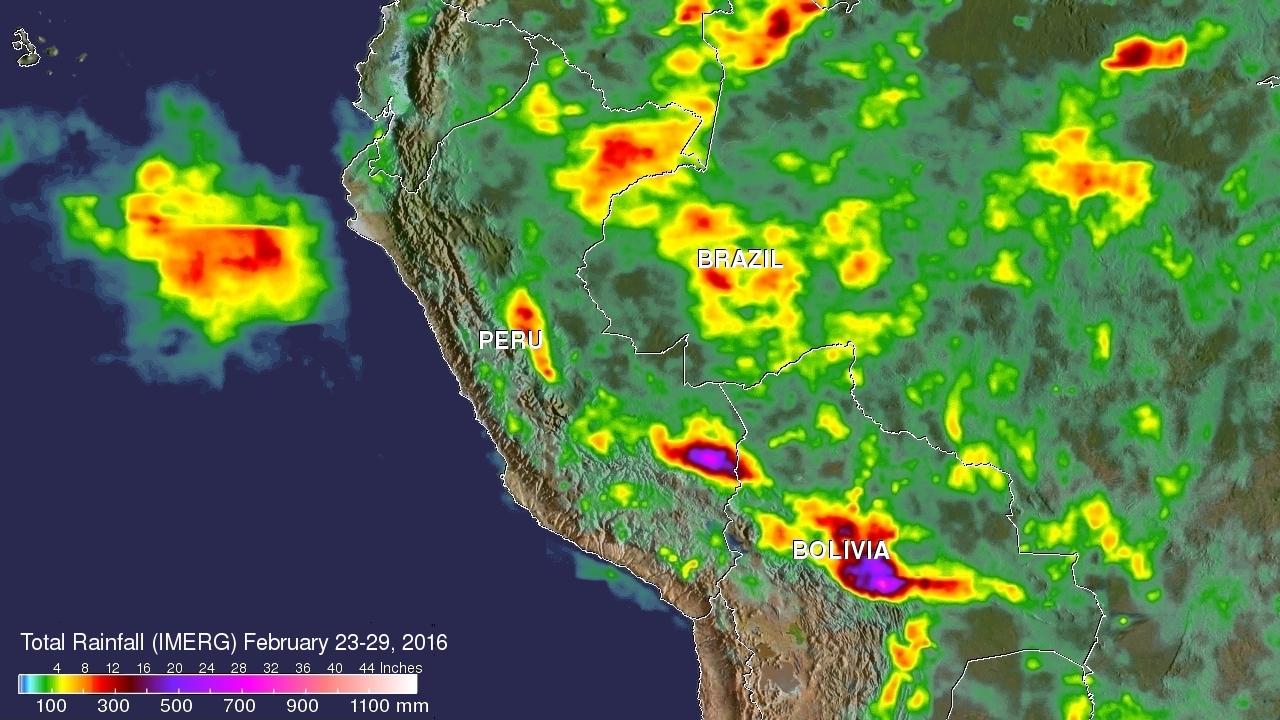 Peru Flooding Rainfall Measured By IMERG