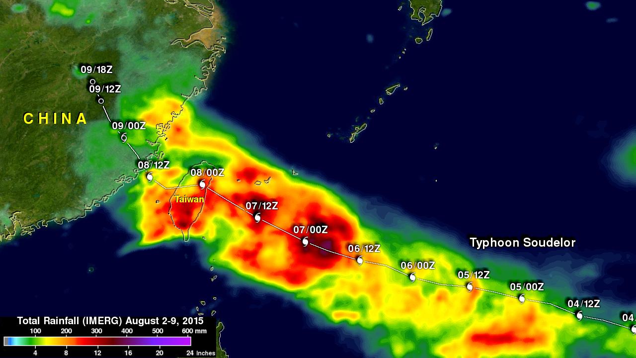 Deadly Typhoon Soudelor's Rainfall Analyzed
