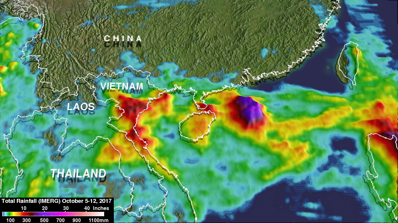 Rainfall In Southeast Asia Analyzed By GPM