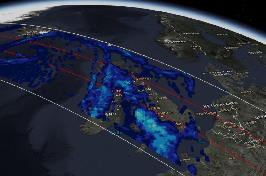 GPM Flies Over Storm Dennis in the UK
