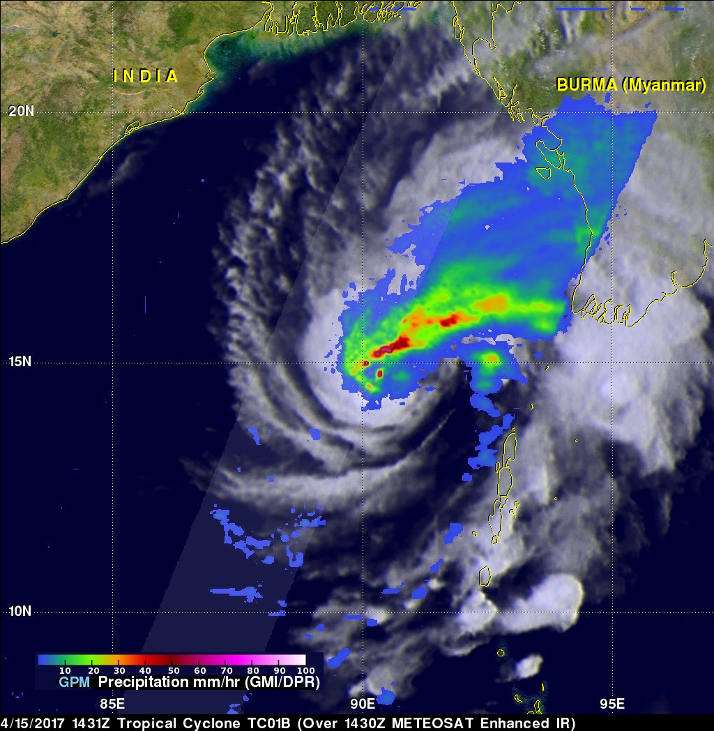 GPM Sees Tropical Cyclone Maarutha Develop
