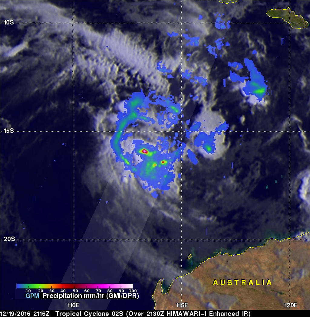 Tropical Cyclone 02S Formation Observed By GPM