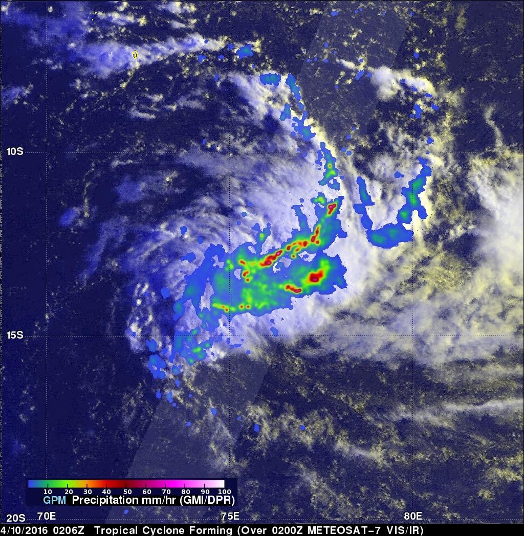 Tropical Cyclone Fantala Formation Seen By GPM
