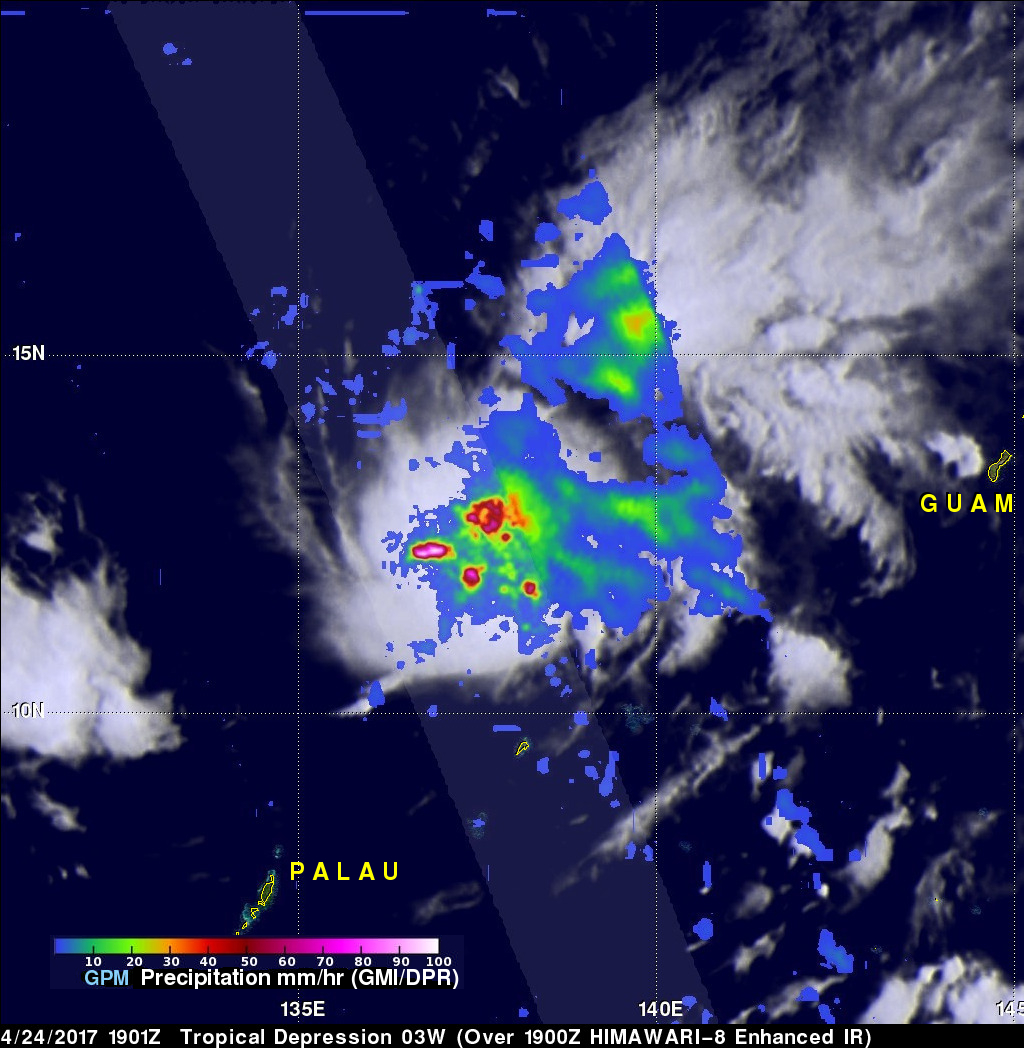 Tropical Depression 03W In The Pacific Examined By GPM