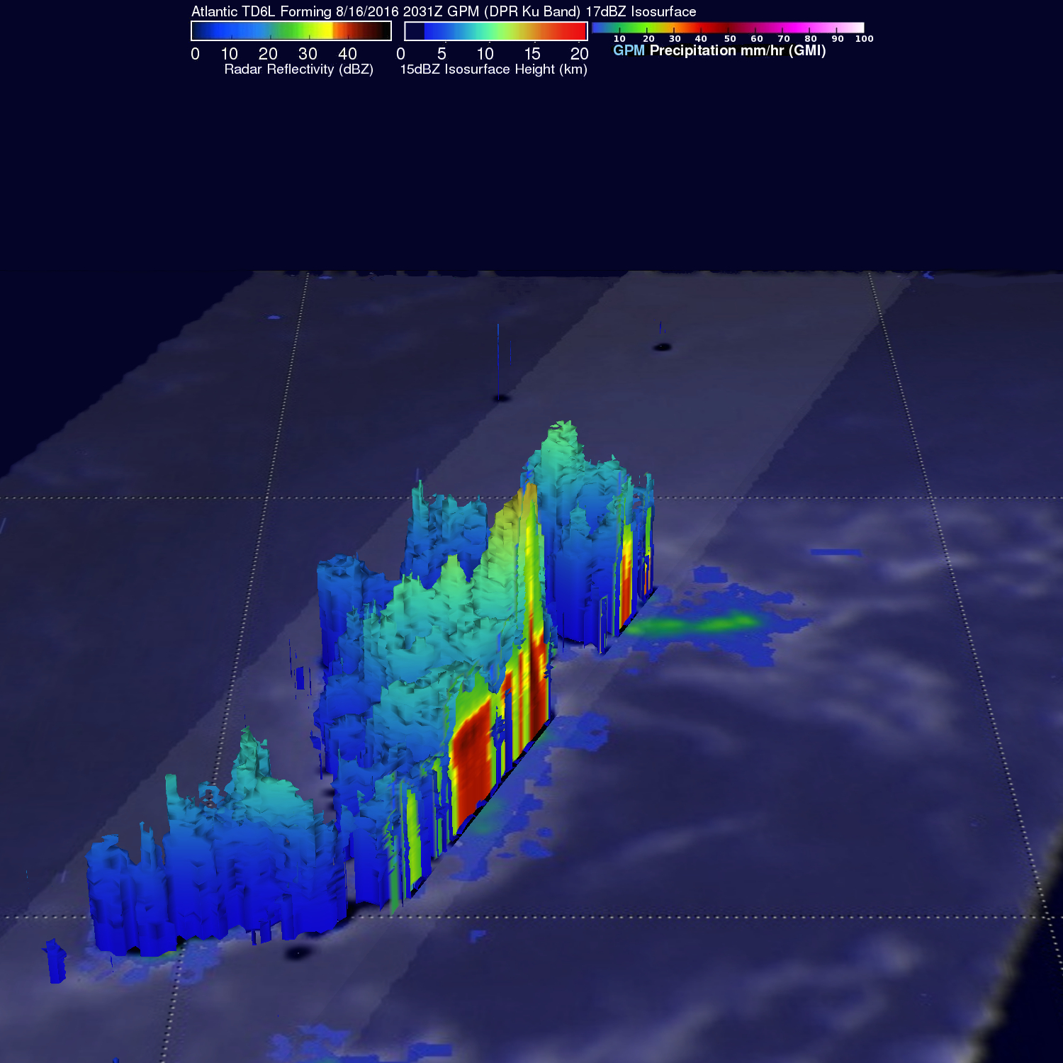 GPM Satellite Sees Forming Atlantic Tropical Depression