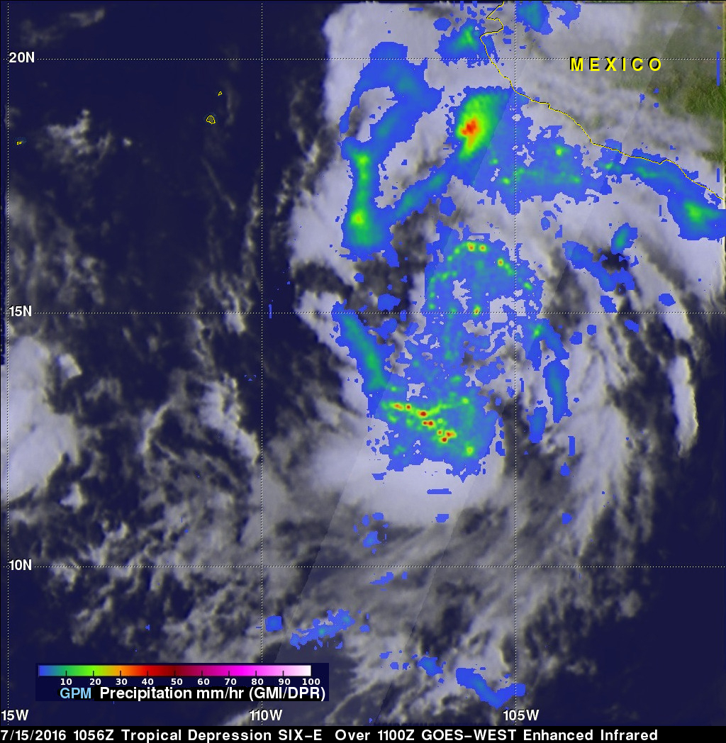 GPM Sees Tropical Depression SIX-E Forming