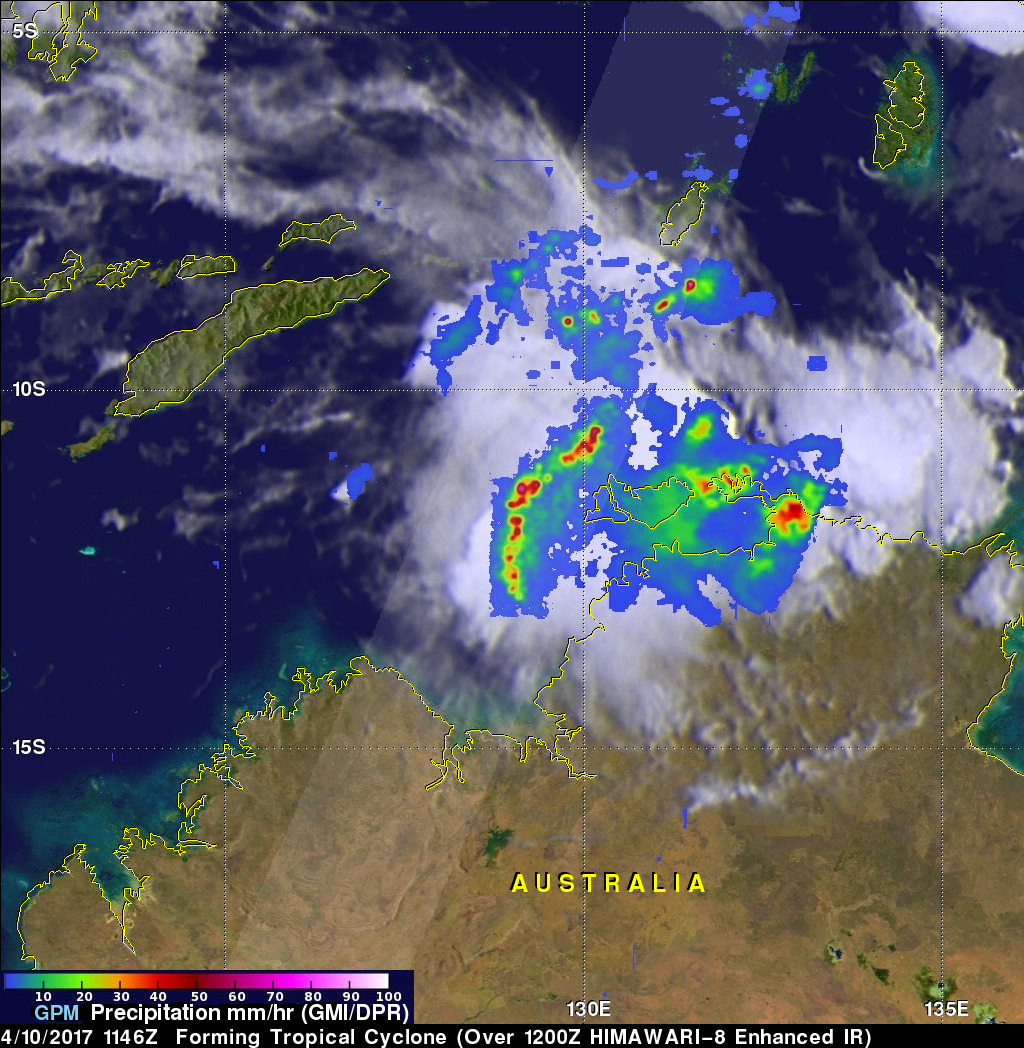 GPM Observes Tropical Cyclone Forming North of Australia