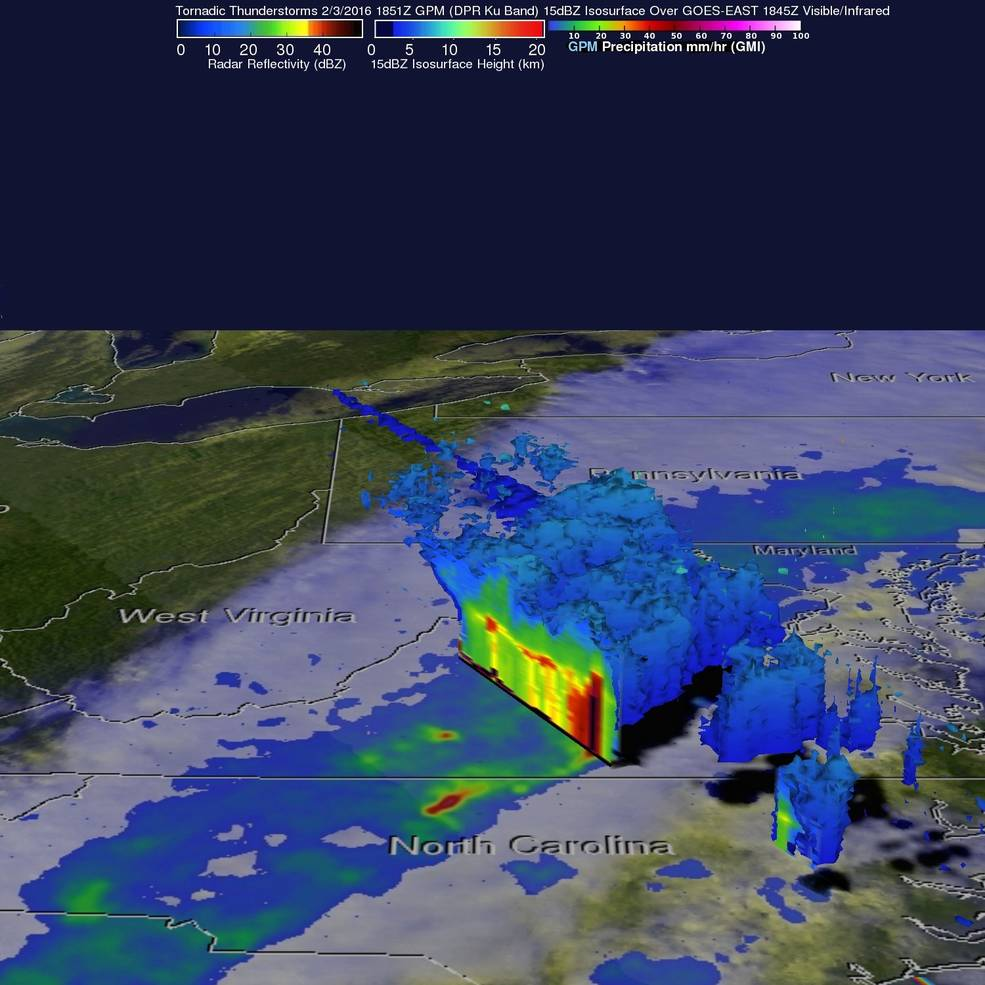 GPM Examines Violent Thunderstorms in U.S.