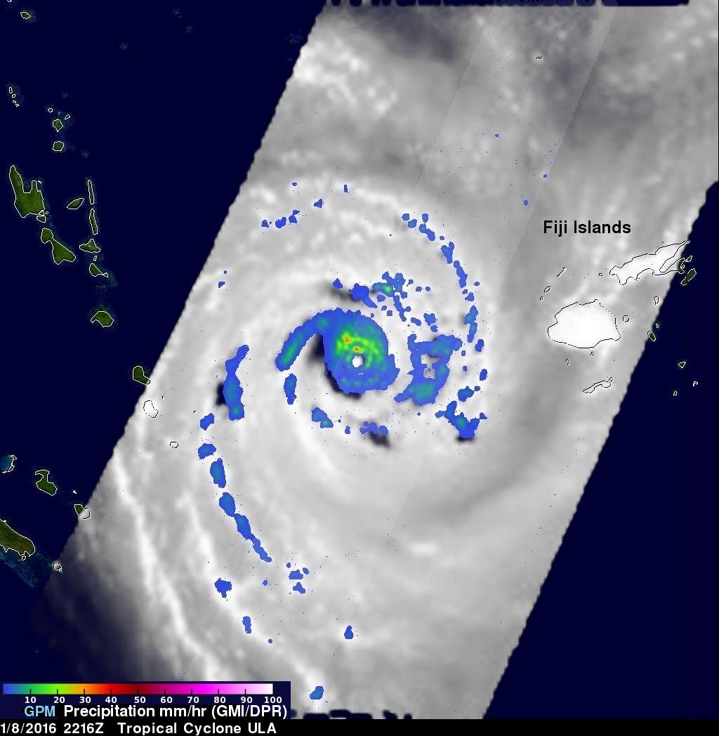Powerful Tropical Cyclone Ula Monitored By GPM