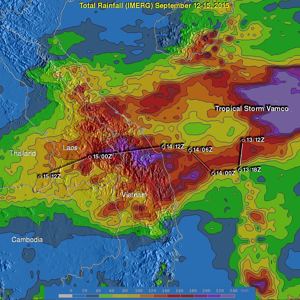 Tropical Storm Vamco Brings Rain To Southeast Asia