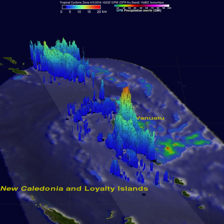 GPM Views Tropical Cyclone Zena Hitting Vanuatu