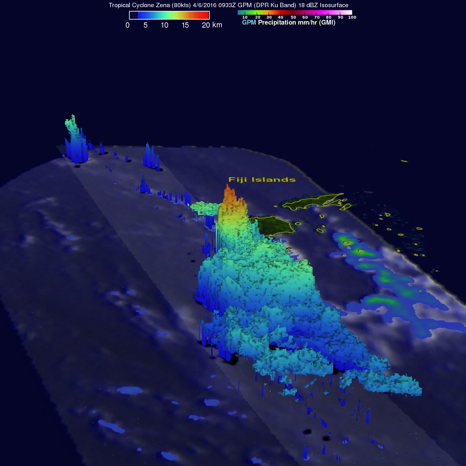 GPM Sees More Powerful Tropical Cyclone Zena