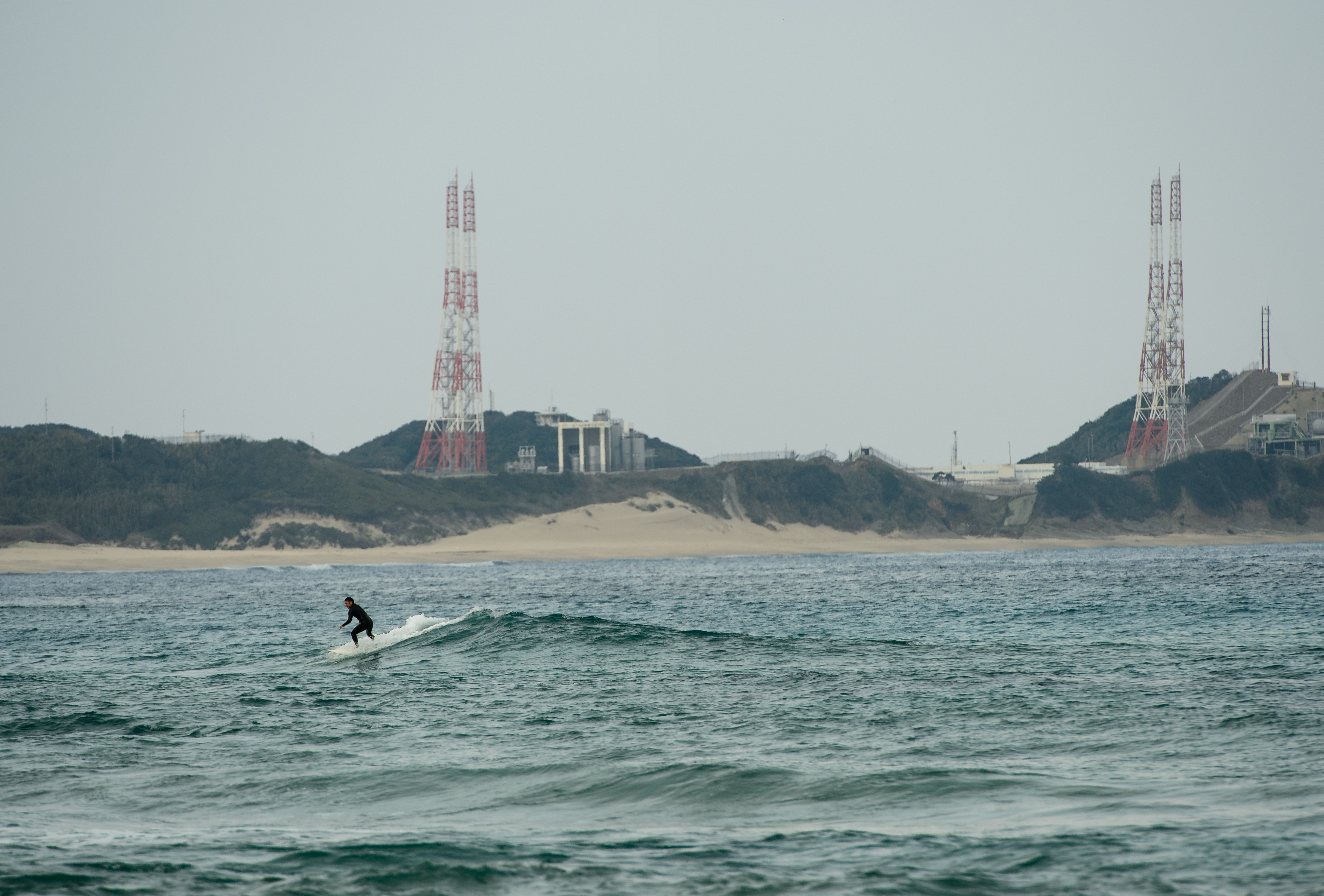 Surfing at Tanegashima Space Center
