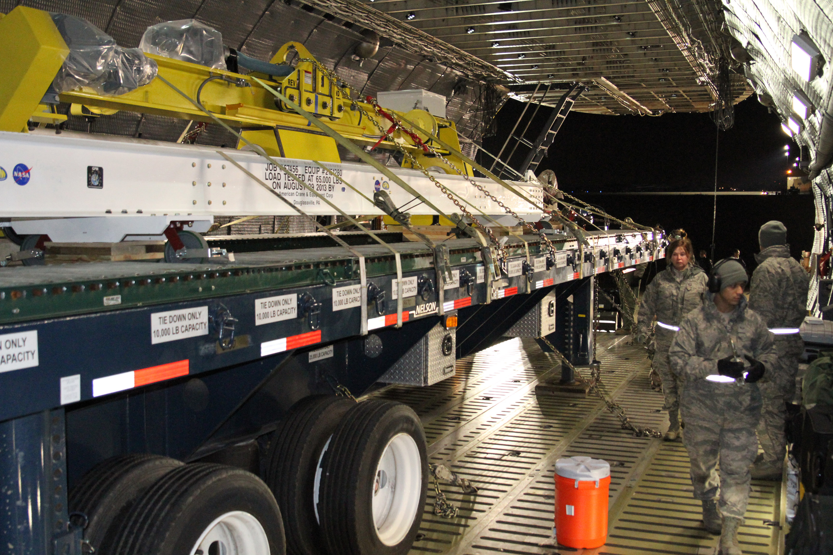 GPM's Roller Bed Truck Loaded on the Plane