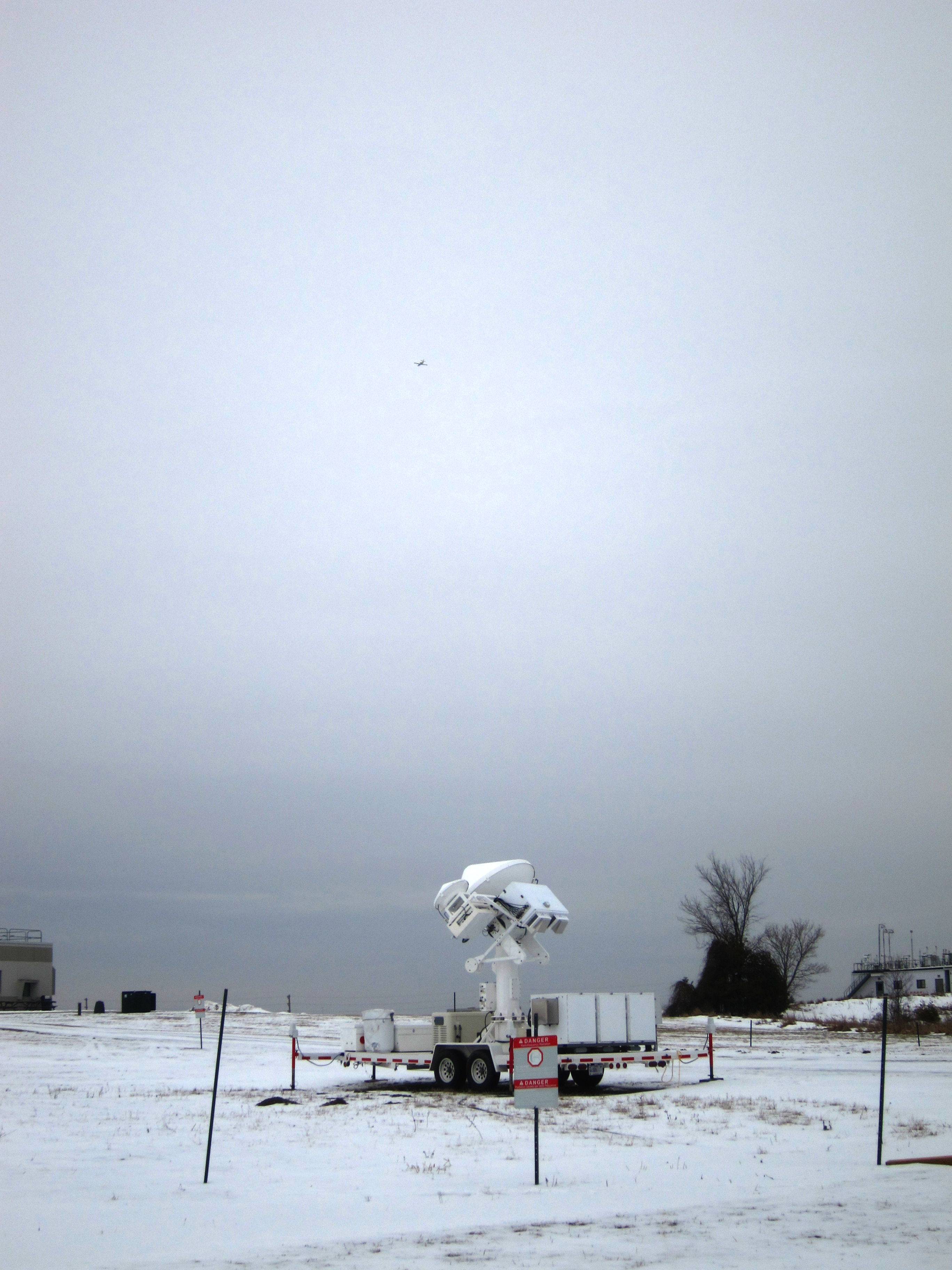 Radar on the ground with Citation in the sky