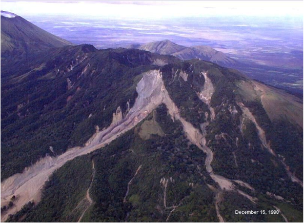 Landslide at Casita volcano