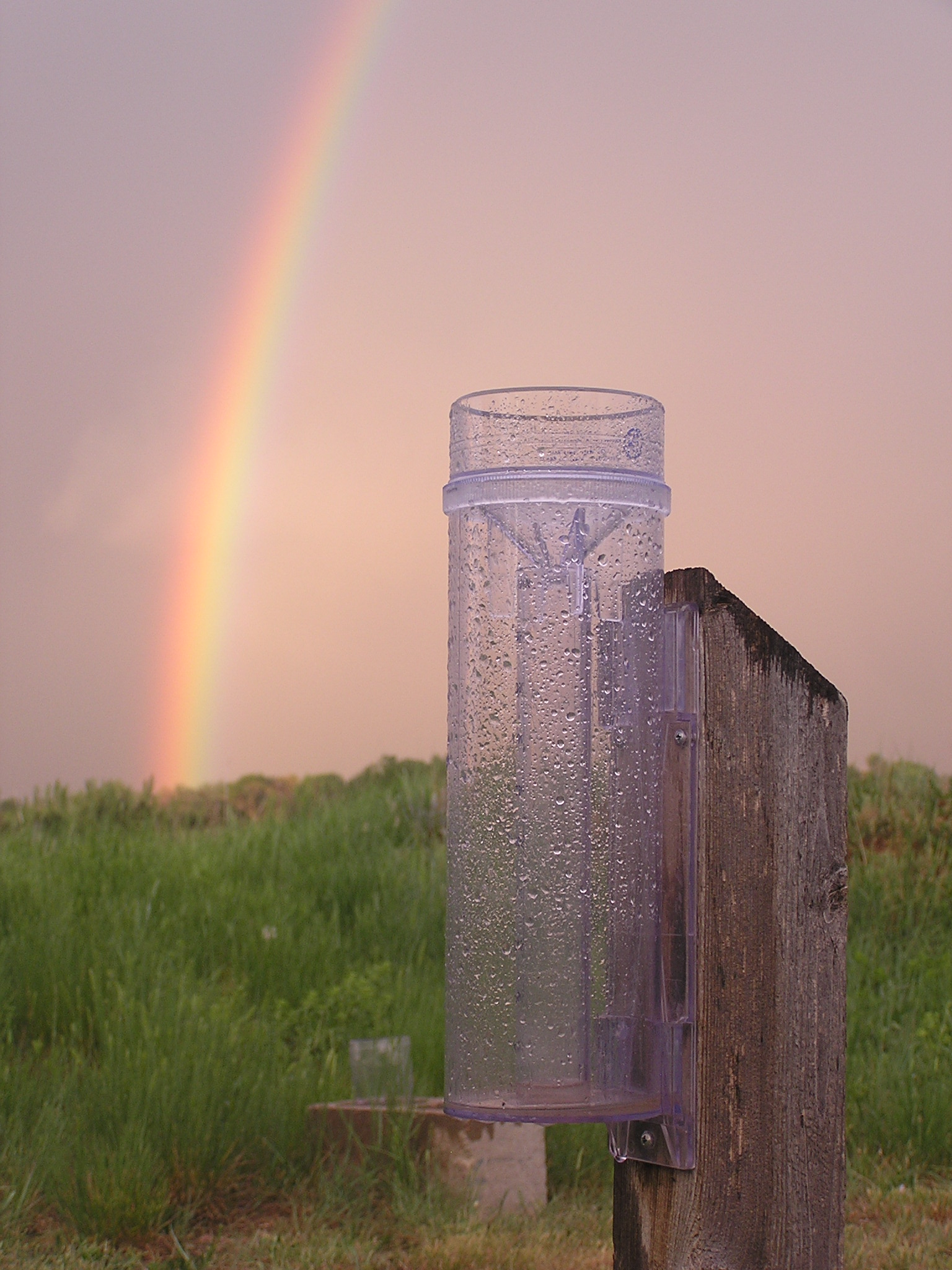 CoCoRaHS rain gauge after storm