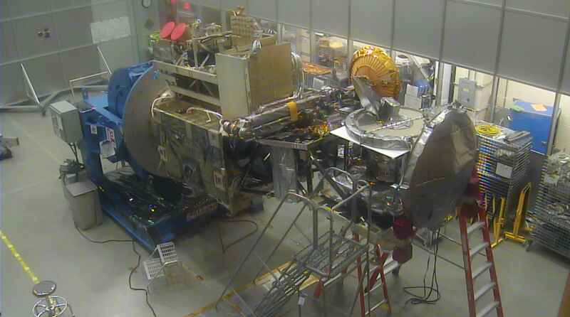 GMI being integrated onto the GPM Core Observatory