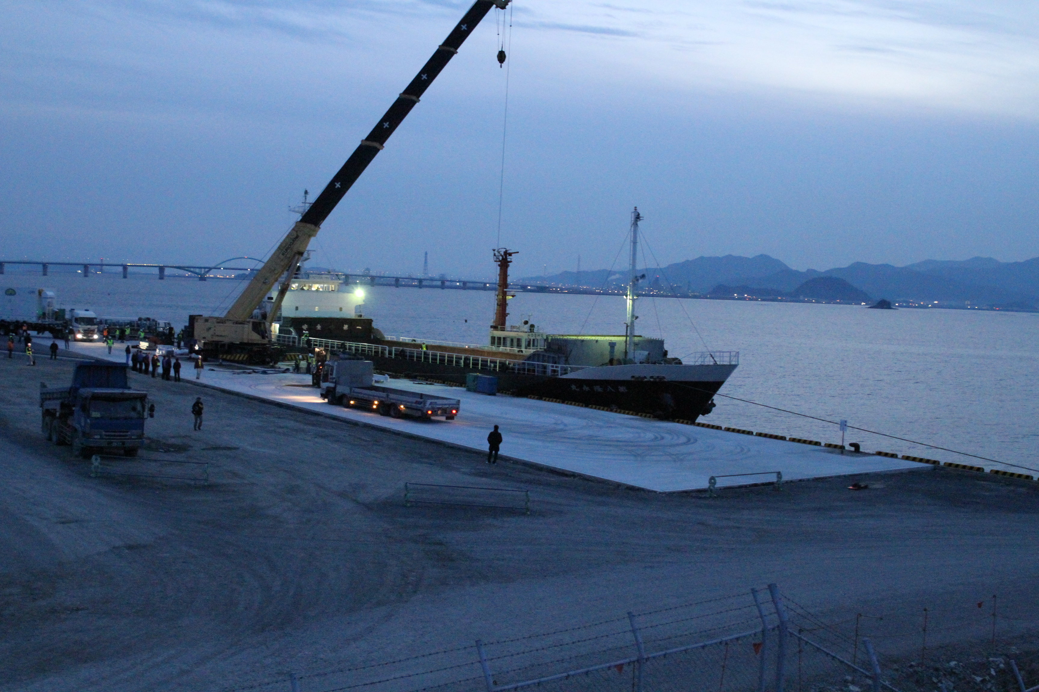 GPM Loaded onto Barge