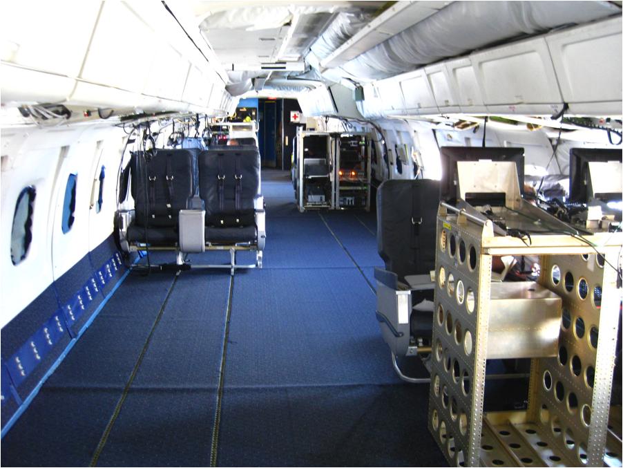 File:SAS DC-8-33. Interior of cabin. Service on board, steward ...