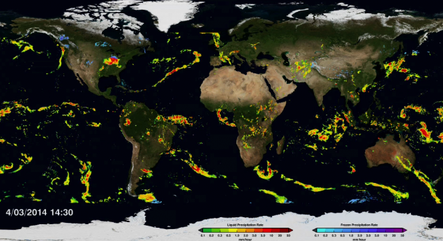 First Global Rainfall and Snowfall Map from GPM