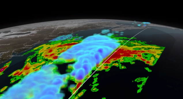GPM Sees Nor'easter Dump Snow on New England