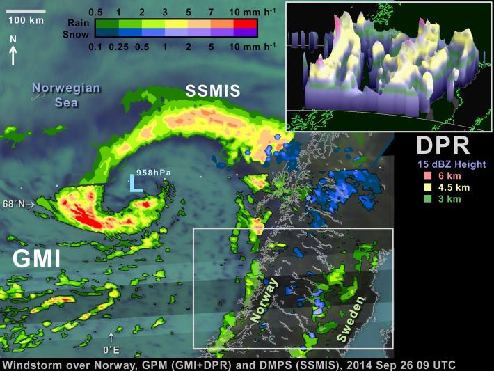 GPM Satellite Sees a Windstorm over Norway